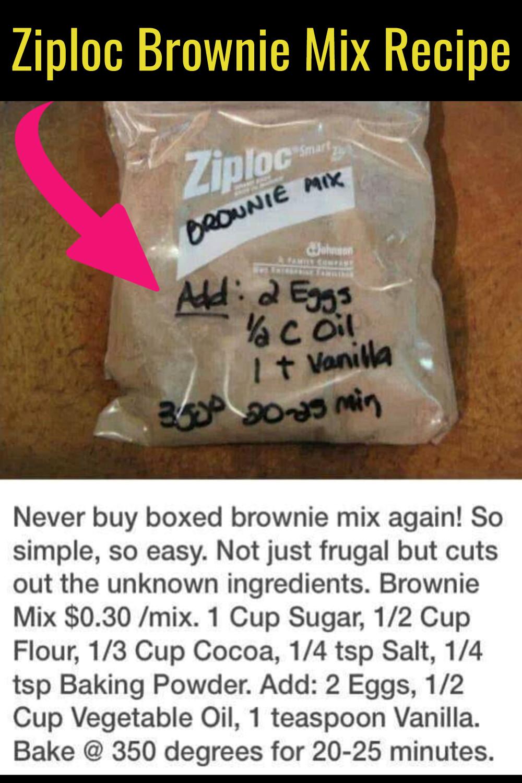 How to make Ziploc brownie mix!